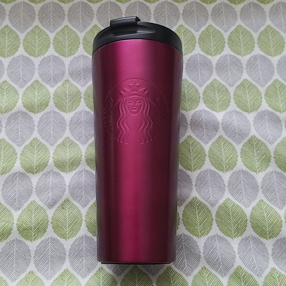 Gently Used Starbucks Magenta Tumbler 16oz